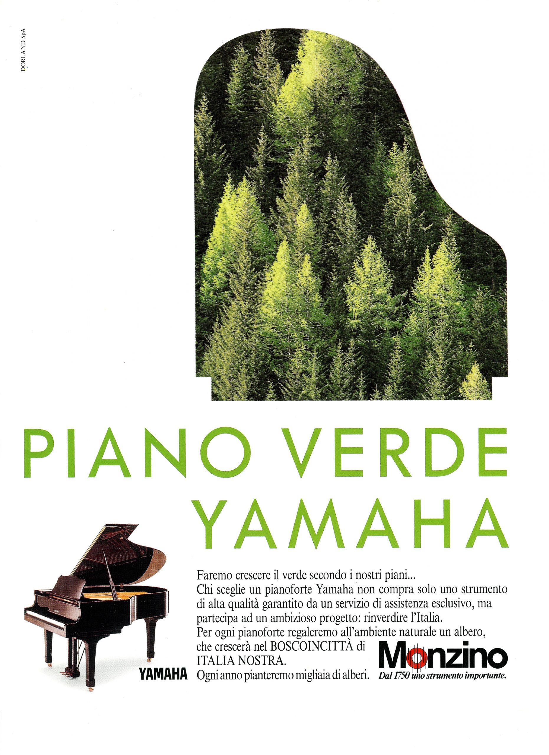 Un albero piantato a Bosco in Città per ogni pianoforte venduto